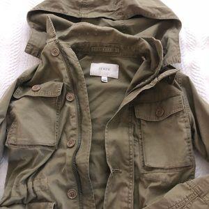 NWOT J Crew army green jacket size XXS.